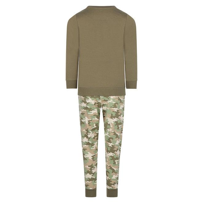 Charlie Choe Jungen Pyjama Set Grün Camouflage