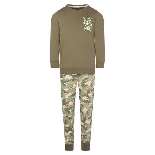 Charlie Choe Boys Pyjama Set Green Camouflage