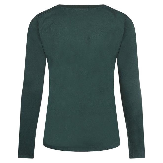 Charlie Choe Ladies Pyjama Shirt Dark Green