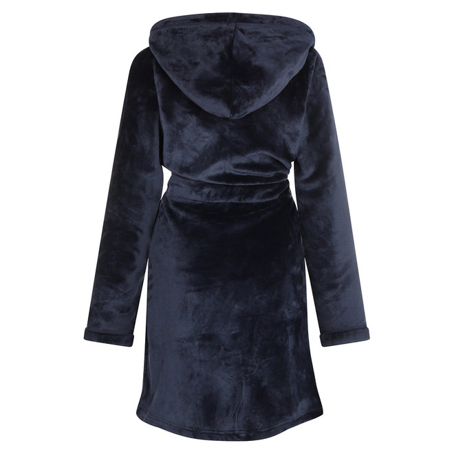 Charlie Choe Damen Bademantel Blau - Kurzes Modell
