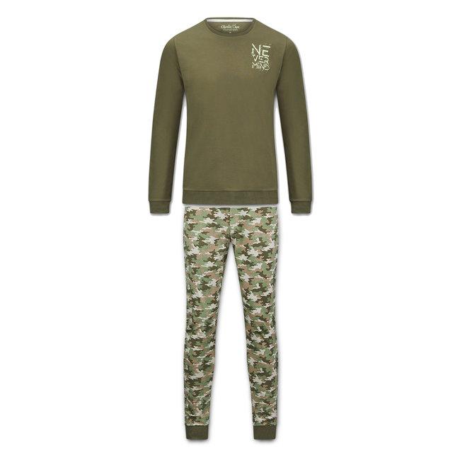 Charlie Choe Herren Pyjama Set Camouflage Grün