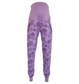 MATERNITY PYJAMA PANT PURPLE LACE