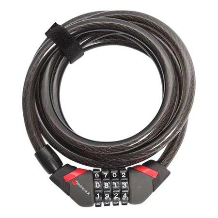DoubleLock Kabelslot Coil Cable Combo 240 CM  - 12 MM  met cijfercode