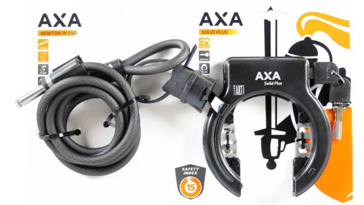 AXA Ringslot Solid Plus + insteekkabel RLN Newton 150 ART-2 - bewerkt