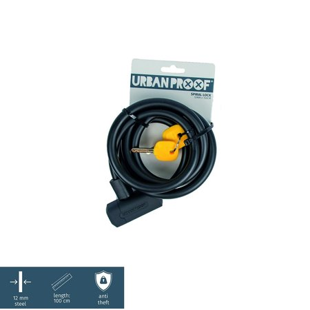 Urban Proof Kabelslot Zwart 150 CM