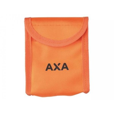 AXA Problock ART 4 schijfremslot oranje met reminderkabel en tas
