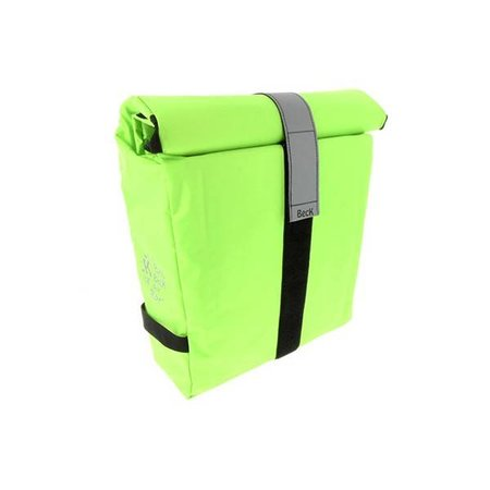 Beck Enkele fietstas - Shopper - Roll Single Fluo Lime