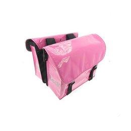 Beck Dubbele fietstas Mini Pink