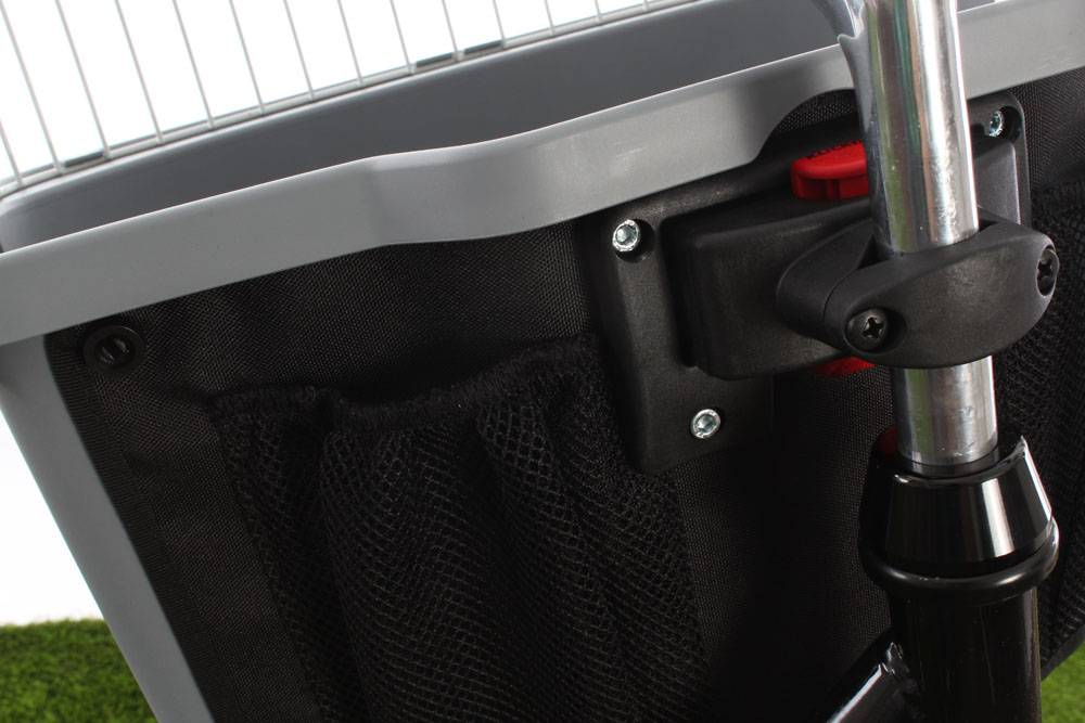 Cordo Pet Carrier Hondenfietsmand Grijs KLICKfix