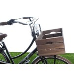 Fietsmanden van (of met) hout + houten fietskratten