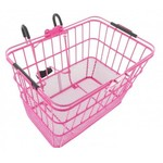 Roze fietsmanden