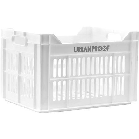 Urban Proof Fietskrat 30L White - simpelweg fris wit