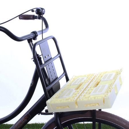 Urban Proof Inklapbaar fietskrat 18L Pastel yellow - opvouwbaar!