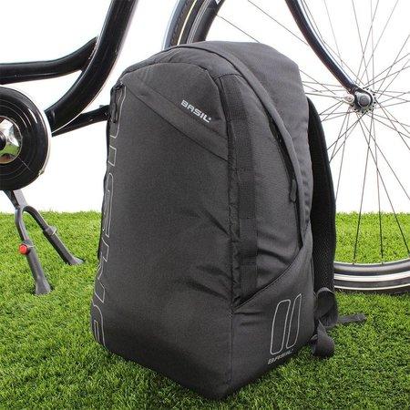 Basil Fietsrugzak Flex Backpack 17L Zwart