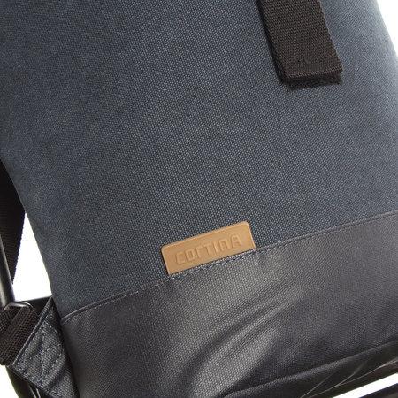 Cortina Denim Backpack Memphis Blue M 9L Blauw - voor op de voordrager