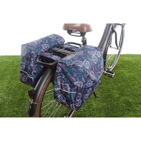 New Looxs Dubbele fietstas Joli Double 37L Zarah Blue