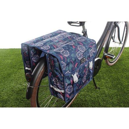 New Looxs Dubbele fietstas Fiori Double 30L Zarah Blue