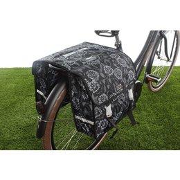 New Looxs Dubbele fietstas Fiori Double 30L Zarah Black