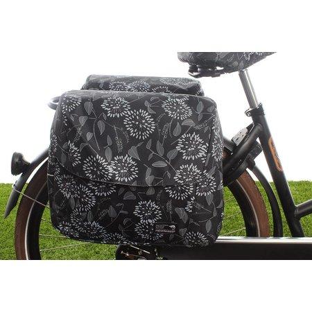 New Looxs Dubbele fietstas Joli Double 37L Zarah Black