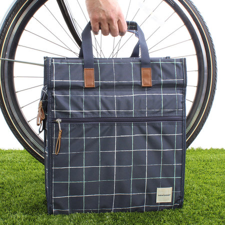 New Looxs Enkele fietstas/pakaftas Lilly 18L Check Blue