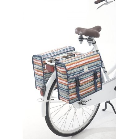 New Looxs Dubbele fietstas Fiori Double 30L Diamond Spring