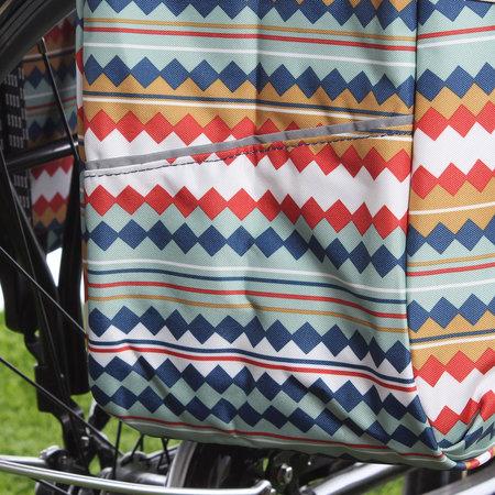 New Looxs Dubbele fietstas Joli Double 37L Diamond Spring