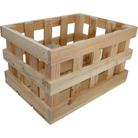 Fietskrat Woodybox Naturel 20L