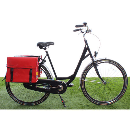 De Poort Dubbele fietstas Rood 46L