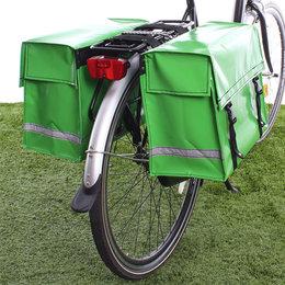 De Poort Dubbele fietstas Appelgroen 46L