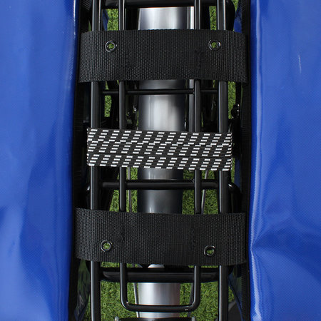 De Poort Dubbele fietstas Blauw 46L