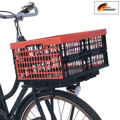 Plates 4 Bikes Afneembare Fietskrat Kunststof 32L Rood/Zwart