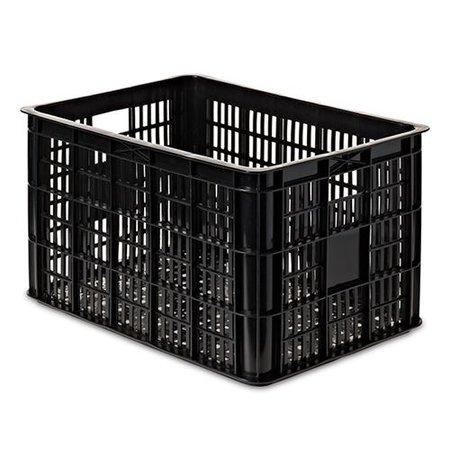Basil Fietskrat Groot Zwart 50L voor MIK/Racktime