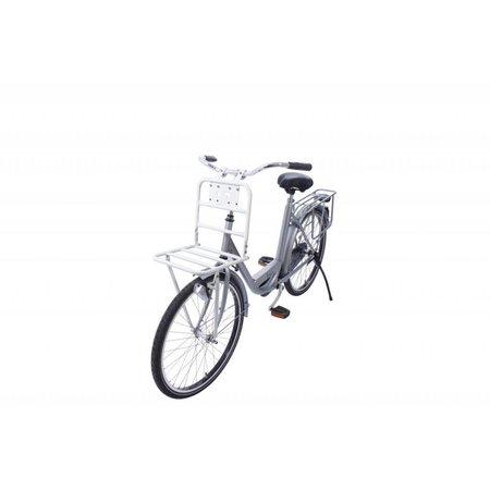 Steco Transport Comfort voordrager voor fietsen volwassenen - wit