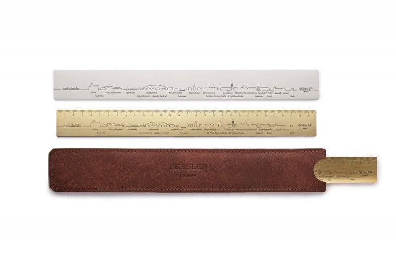 Messinglineal Gessler 1862