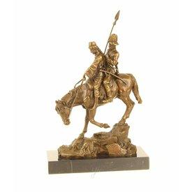 Kozak met vrouw te paard