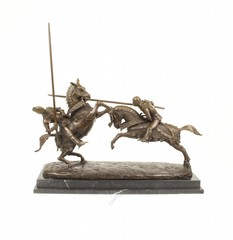 Bronze military and hunting sculptures