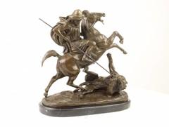 Producten getagd met arab horse killing lion bronze sculpture