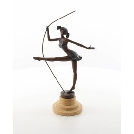 Bronzen beeld van een ballerina