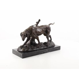 Bronzen beeld van hond