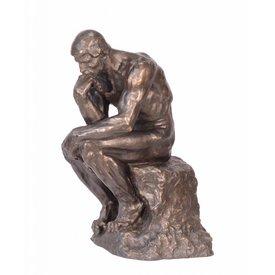 Bronzen beeld van 'de denker'