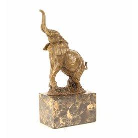 Bronzen beeld van olifant