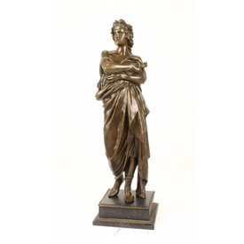 A BRONZE SULPTURE OF AUGUSTUS