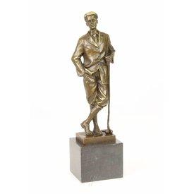 An old-fashioned  golfer