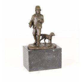 Bronzen beeld van een jager