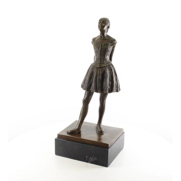 A bronze sculpture of the Little Dancer Aged Fourteen