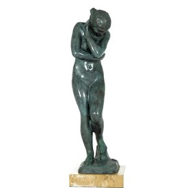 A BRONZE SCULPTURE OF EVE