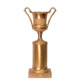 Bronzen vaas op piedestal