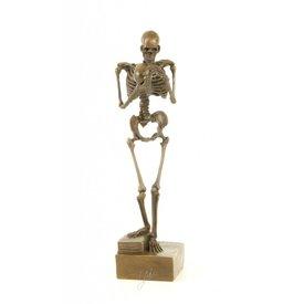 Skelet met schedel in handen