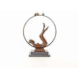 Nude female and hoop