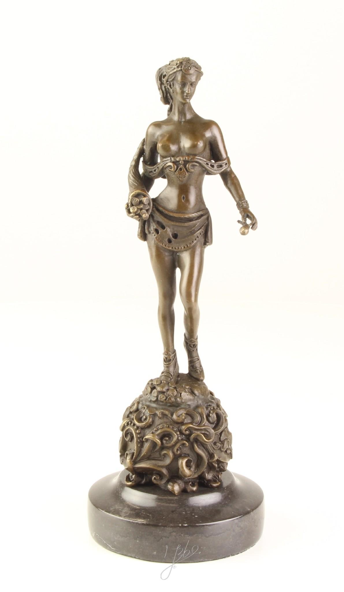 bronze 30cm style antique Statuette de ballerine
